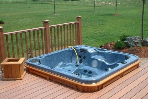 arctic spas hot tub build in deck corner
