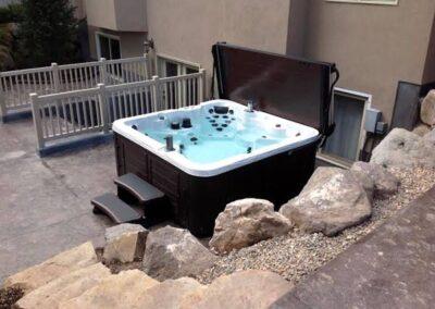 Arctic Spas hot tub in sable no maintenance cabinet