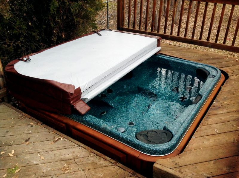 arctic spas hot tub in the pool deck